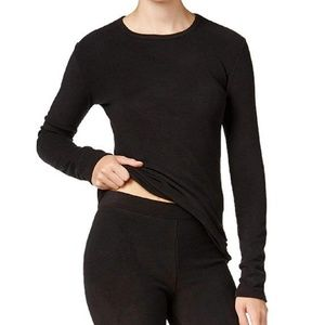 Cuddl Duds Fleecewear With Stretch Long Sleeve Top
